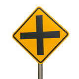Intersection sign isolated Stock Photos