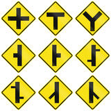Intersection Signs In Chile Stock Image