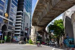 Intersection Thaïlande de rues de Bangkok image stock