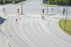 Intersection urbaine Photos libres de droits