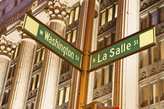 Intersection of Washington and La Salle Royalty Free Stock Photos