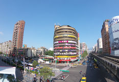 Intersection of Zhongxiao East and Fuxing South Stock Photo