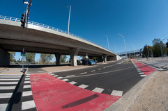 Interseção moderna da estrada Imagens de Stock