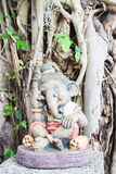 Interseting clay sculpture of little ganesha Royalty Free Stock Photography