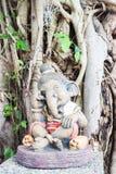 Interseting gliniana rzeźba mały ganesha Fotografia Royalty Free