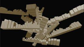 Intersezione del cubo di duo-tono di vettore Immagini Stock Libere da Diritti