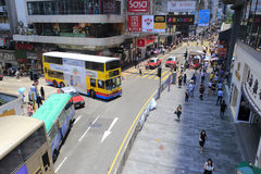 Intersezione della via di Hong Kong Immagine Stock