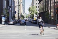 Intersezione di navigazione del ciclista Fotografia Stock Libera da Diritti