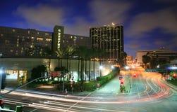 Intersezione occupata di Los Angeles Immagine Stock