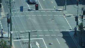 Intersezione Timelapse del semaforo stock footage