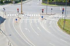 Intersezione urbana Fotografie Stock Libere da Diritti