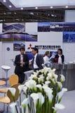 Intersolar 2009 - Cabina pesante del Mitsubishi Idustries Fotografia Stock