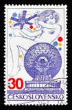 Intersputnik serie, circa 1974 arkivbild
