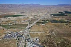 Interstate 10 Coachella Valley arkivfoto
