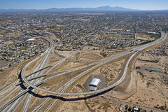 Interstate 10 & Interstate utbyte 19 arkivbilder