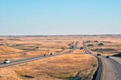 Interstate 25 in Wyoming, USA Stock Photography
