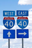 Interstate 40 highway sign in Arizona Stock Photography