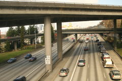 Interstate. Busy interstate with lots of traffic Stock Photo