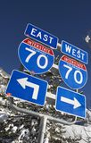 Interstate 70 Colorado Royalty Free Stock Photography