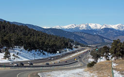 Interstate 70 toward Rocky Mountains Stock Photos