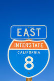 Interstate 8 Sign at the highway Royalty Free Stock Images