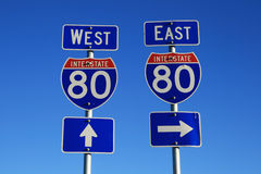 Interstate 80 road signs Stock Photography