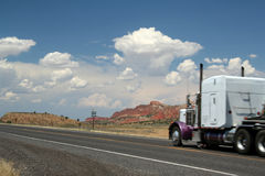 Interstate 89 Truck. Truck Driving royalty free stock images