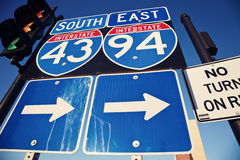 Interstate 90 and 94 Stock Images