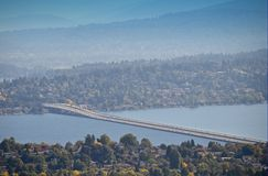Interstate 90 Floating Bridge Lake Washington Royalty Free Stock Photo