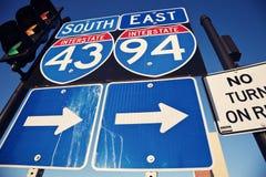 Interstate 90 och 94 Arkivbilder