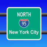 Interstate 95 sign Stock Image