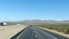 Interstate 40 in Arizona, United States Royalty Free Stock Photography