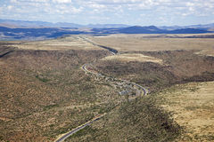 Interstate 17 cutting through Arizona Stock Image