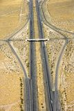 Interstate in desert. Royalty Free Stock Photos
