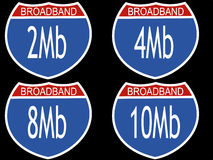 Interstate download speeds Royalty Free Stock Photography
