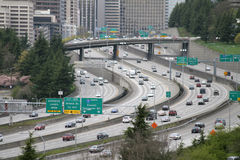 Interstate Freeway Traffic Royalty Free Stock Photography