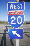 Interstate Highway 20 West Stock Photography