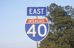 Interstate Highway 40 sign Royalty Free Stock Photography