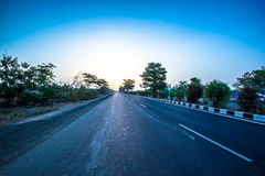 Interstate Highway. From Gujarat to Rajasthan / India photo taken at early morning Stock Image