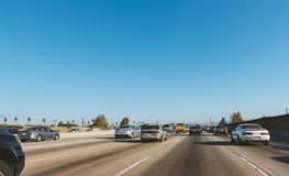 Interstate highway in Los Angeles, USA Stock Image
