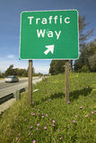 A interstate highway sign on Route 101 displaying �Traffic Way� in Southern California Stock Photography