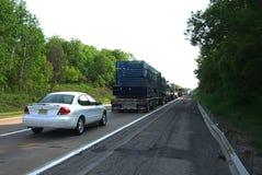 Interstate Highway Traffic Jam Royalty Free Stock Photography