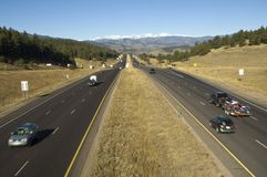 Interstate Highway Westward Royalty Free Stock Photography