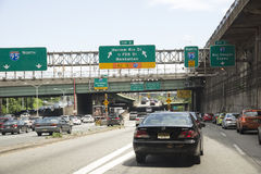 Interstate highways New York USA Stock Images