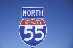 Interstate huvudväg 55 arkivfoto