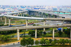 Interstate Junction Aerial View,Shanghai Stock Photo