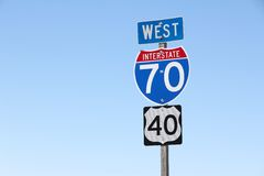 Interstate 70 royalty free stock photos