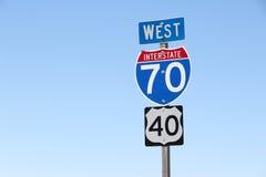 Interstate 70 Royalty Free Stock Photos