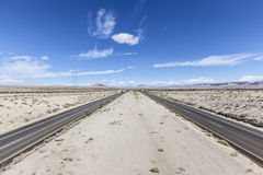 Interstate 15 between Los Angeles and Las Vegas Royalty Free Stock Images