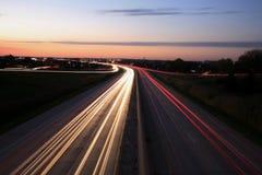 interstate natt fotografering för bildbyråer